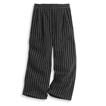 條紋寬褲-女