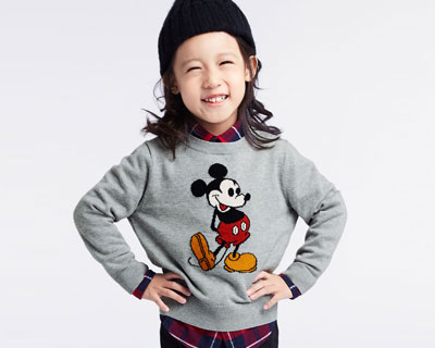 迪士尼系列提花針織衫-02-童