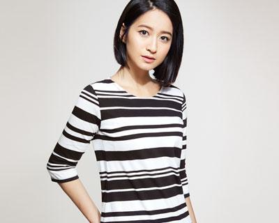 棉質條紋七分袖長版衫-女