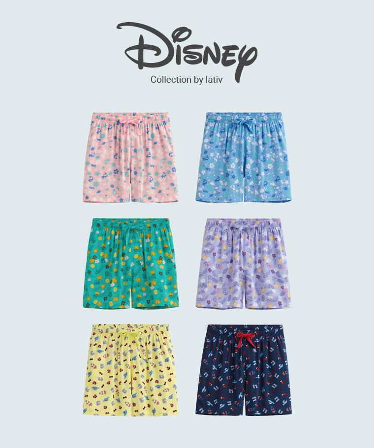 迪士尼系列輕便短褲-女