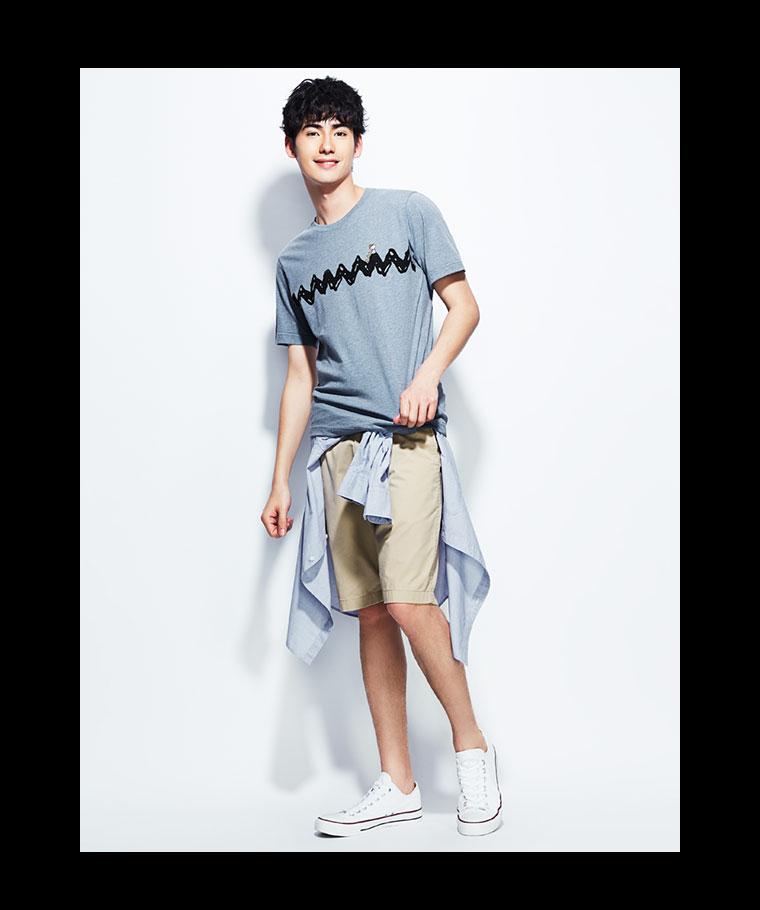 史努比印花T恤-02-男