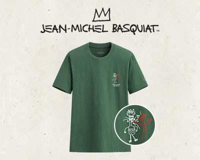 Jean-Michel Basquiat印花T恤-03-男