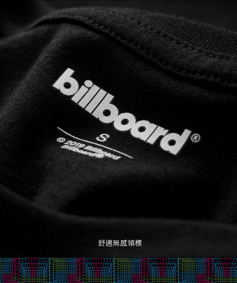 billboard印花V領T恤-01-女