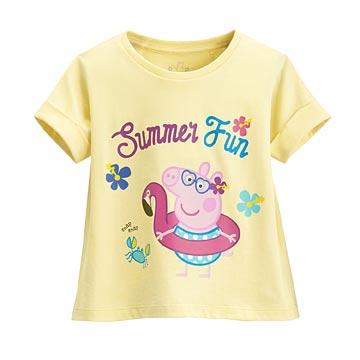Peppa Pig短版印花T恤-07-童