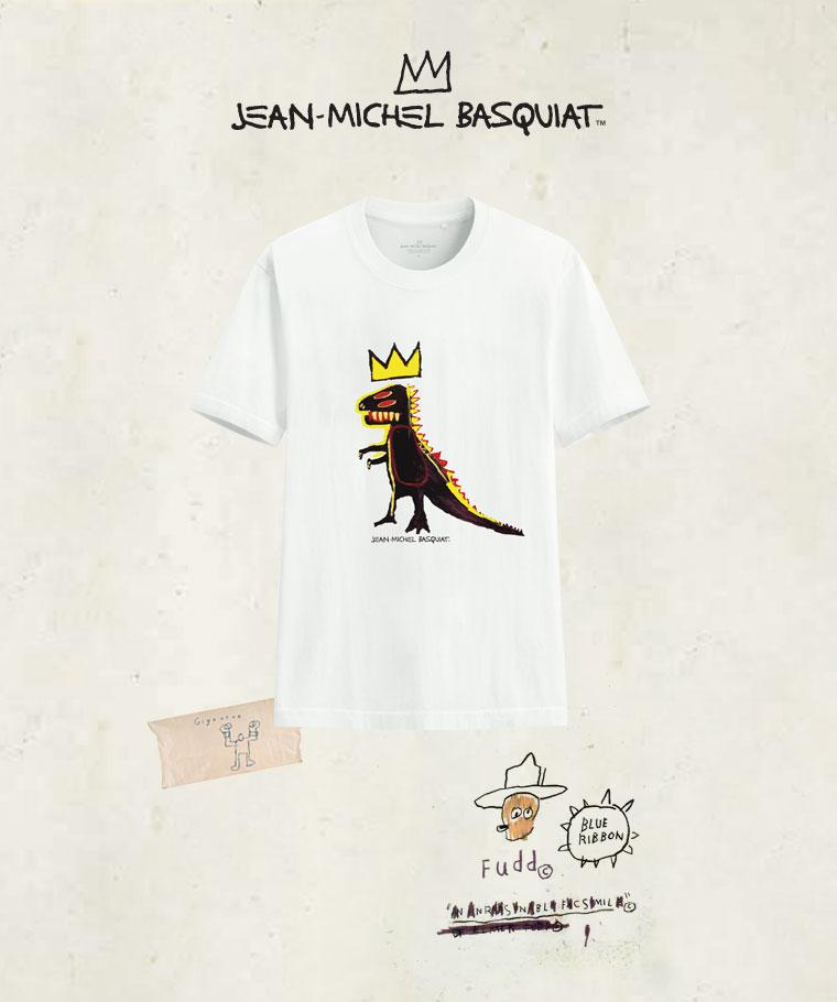 Jean-Michel Basquiat印花T恤-08-男