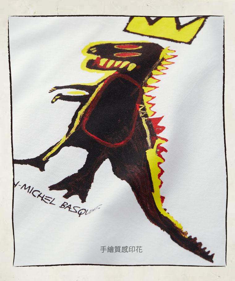 Jean-Michel Basquiat印花T恤-08-童