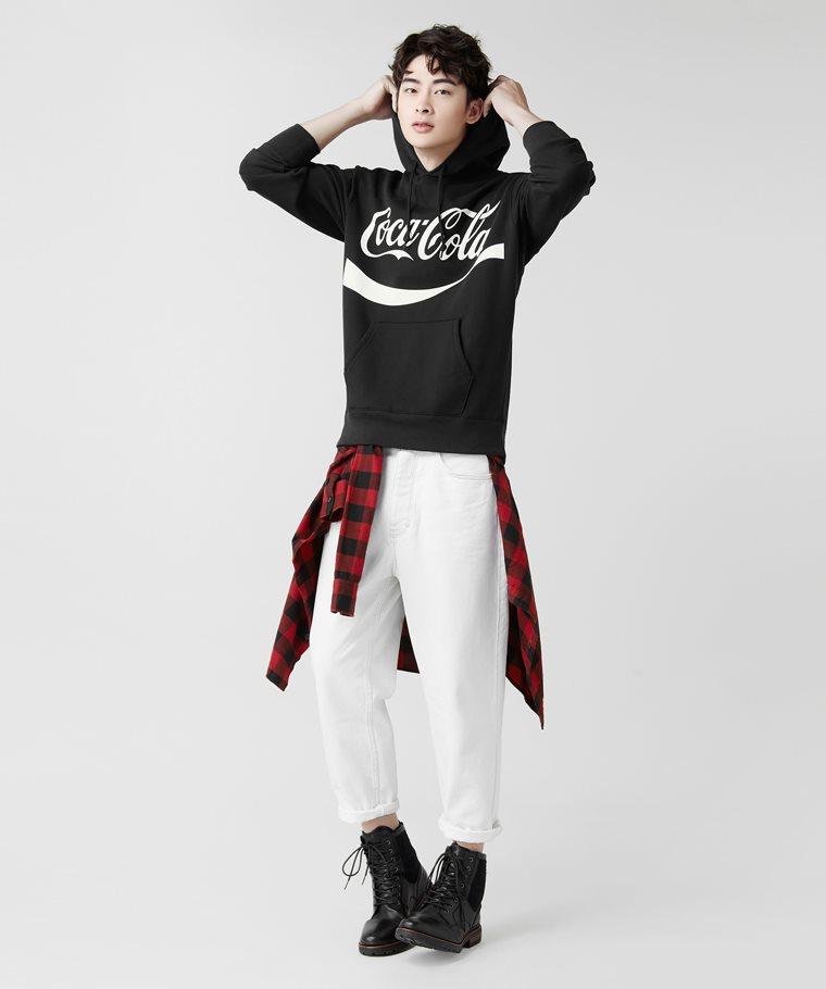 可口可樂刷毛連帽衫-04-男
