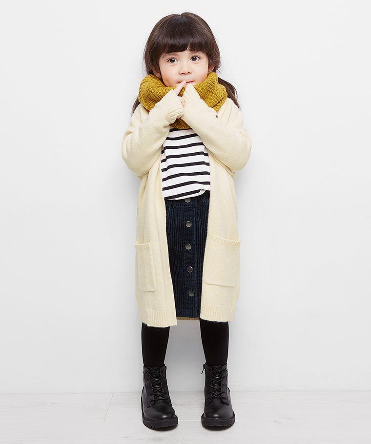 長版針織外套-童
