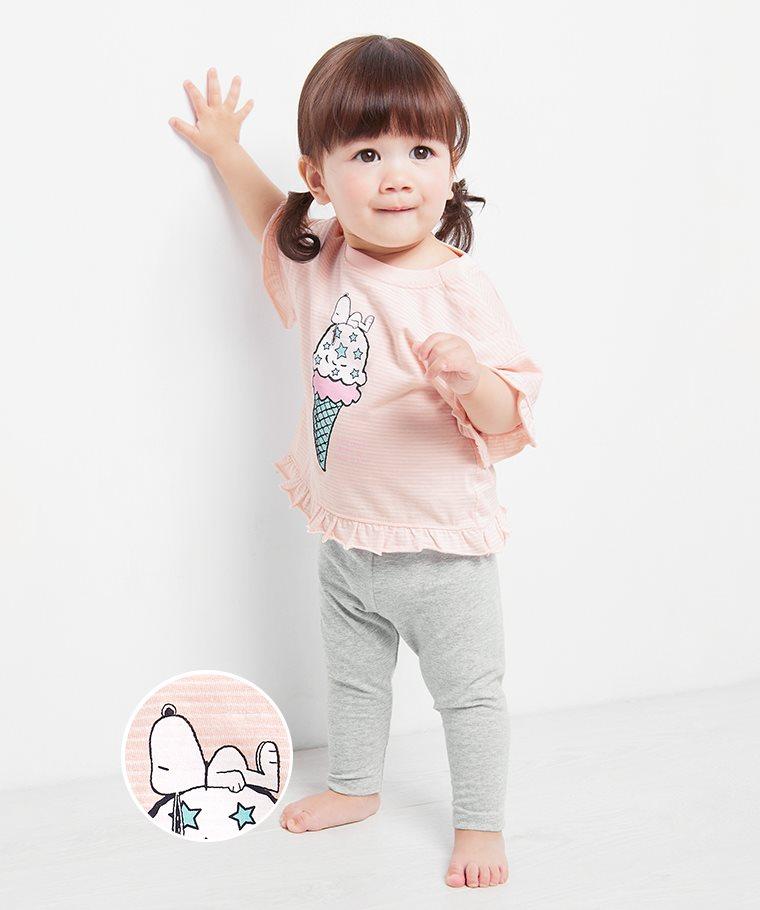 史努比系列竹節棉條紋上衣-Baby