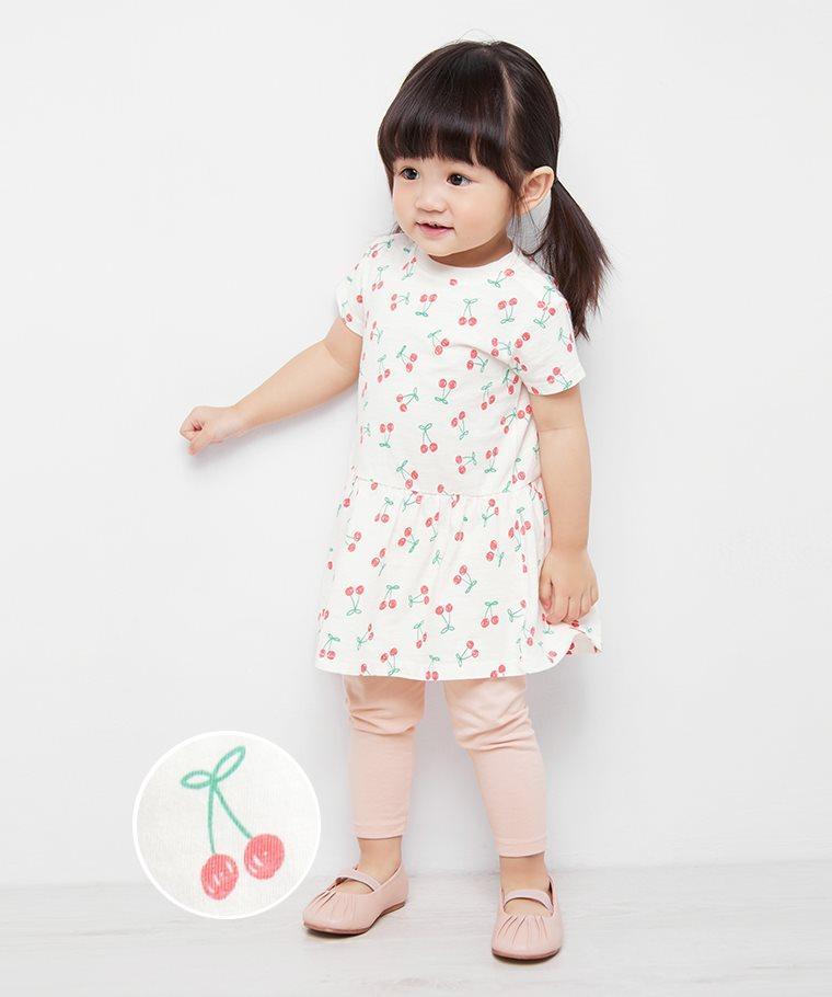 竹節棉印花洋裝-01-Baby
