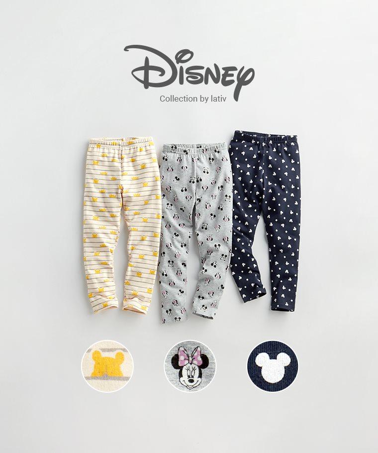 迪士尼系列彈力九分內搭褲-童