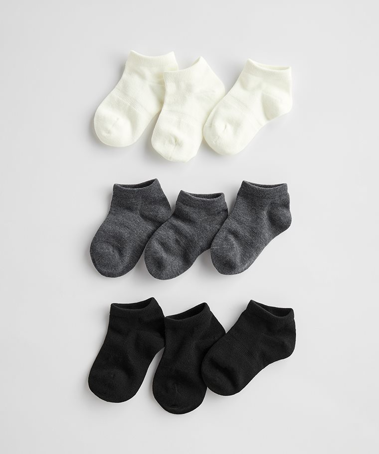 素色踝襪(3入)-童