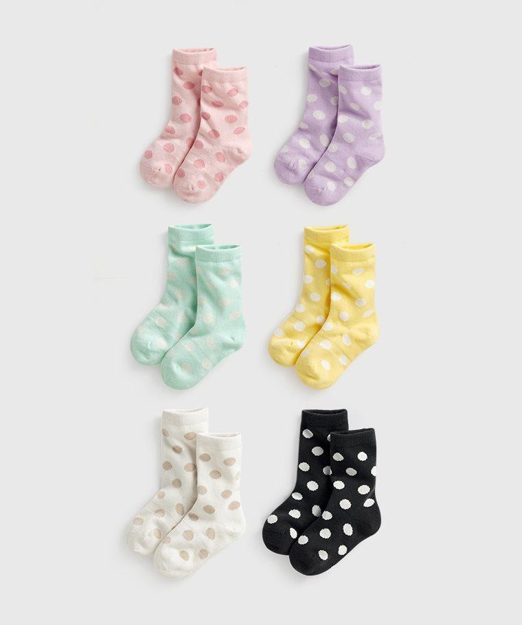 圓點中筒襪-童