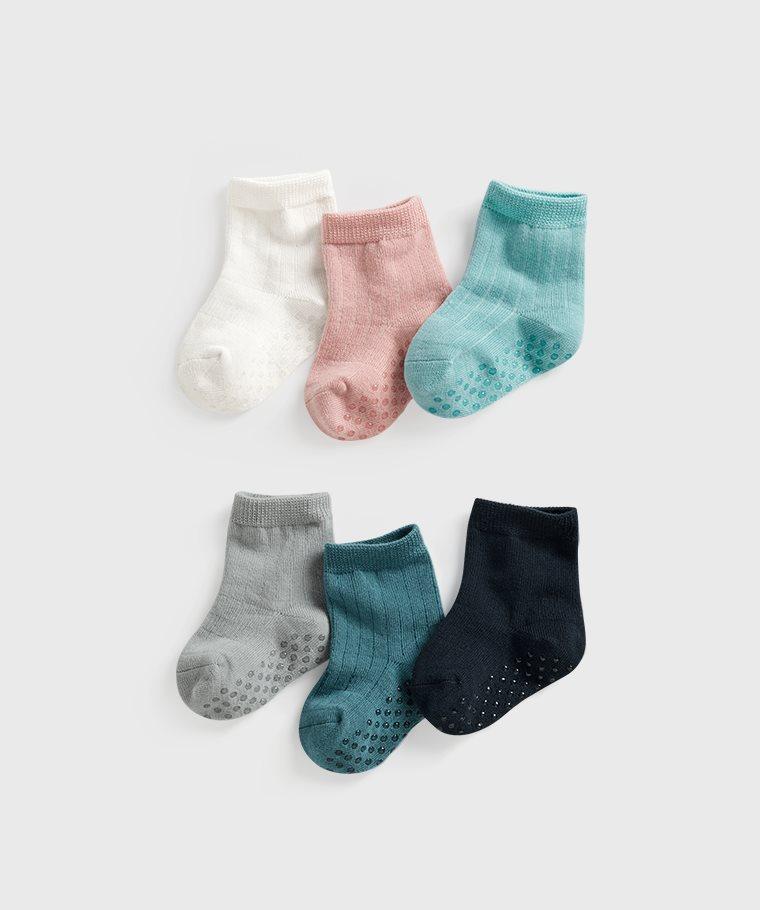 羅紋素色中筒襪(3入)-Baby