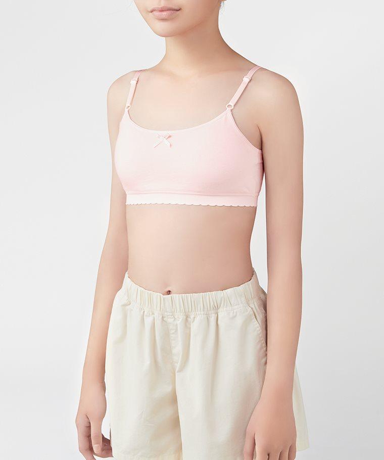 棉質細肩帶Bra胸衣-女童