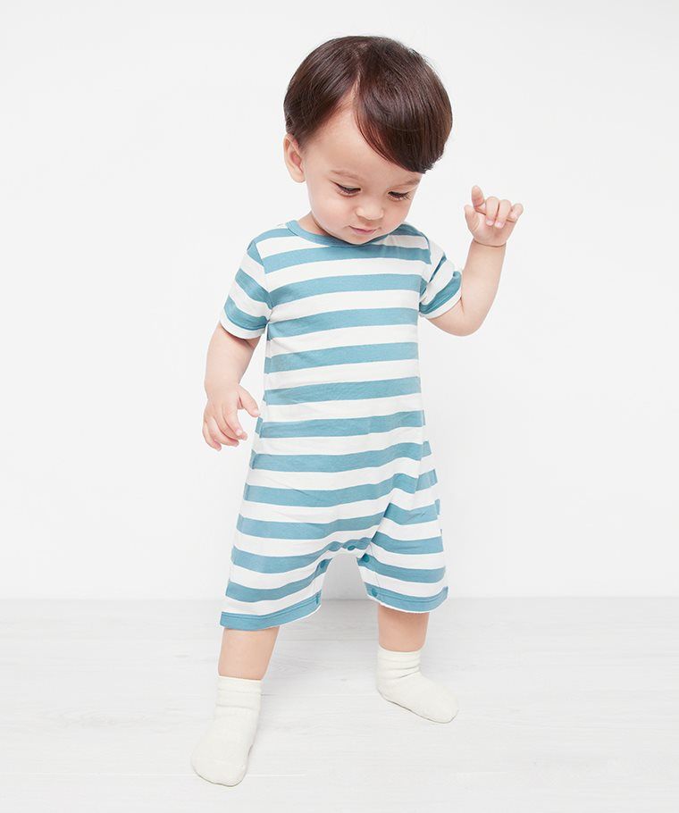 純棉條紋連身衣-Baby