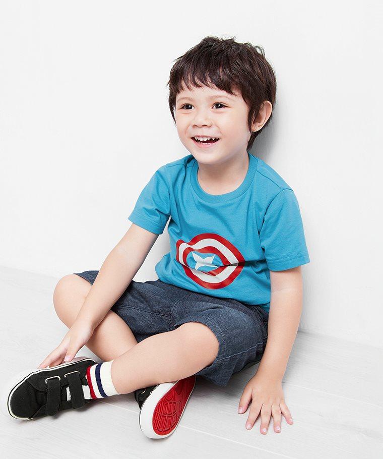 漫威系列印花T恤-05-童