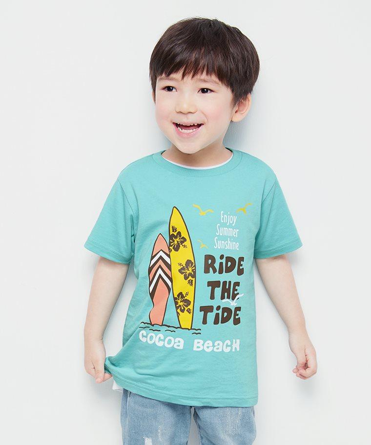 衝浪印花T恤-童