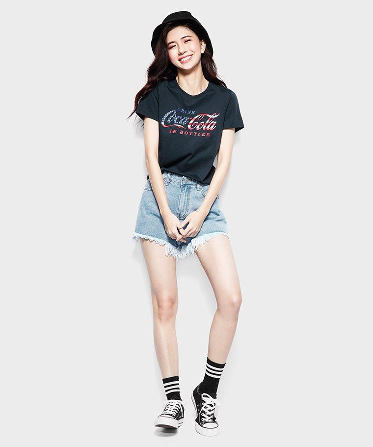 可口可樂印花T恤-09-女