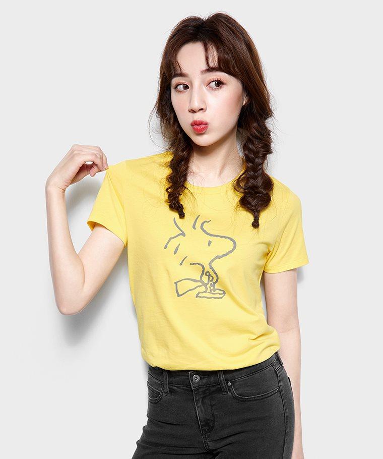 史努比系列印花T恤-18-女