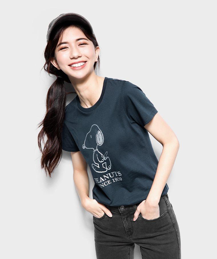 史努比系列印花T恤-22-女