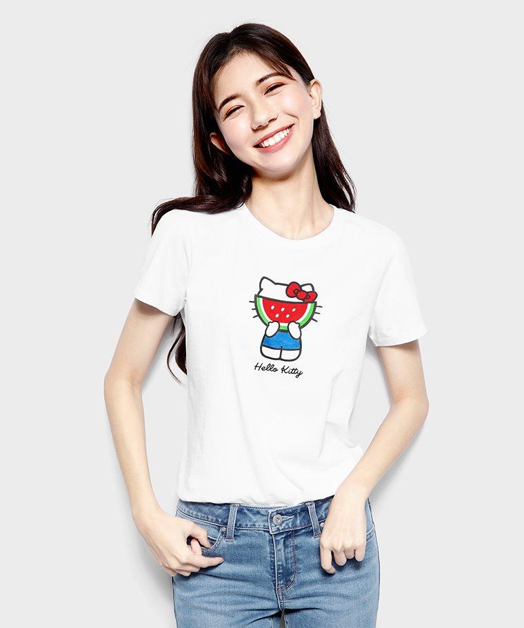 Hello Kitty印花T恤-04-女