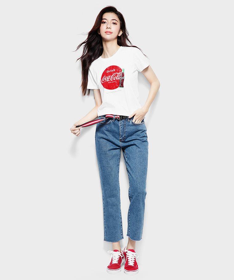 可口可樂印花T恤-10-女