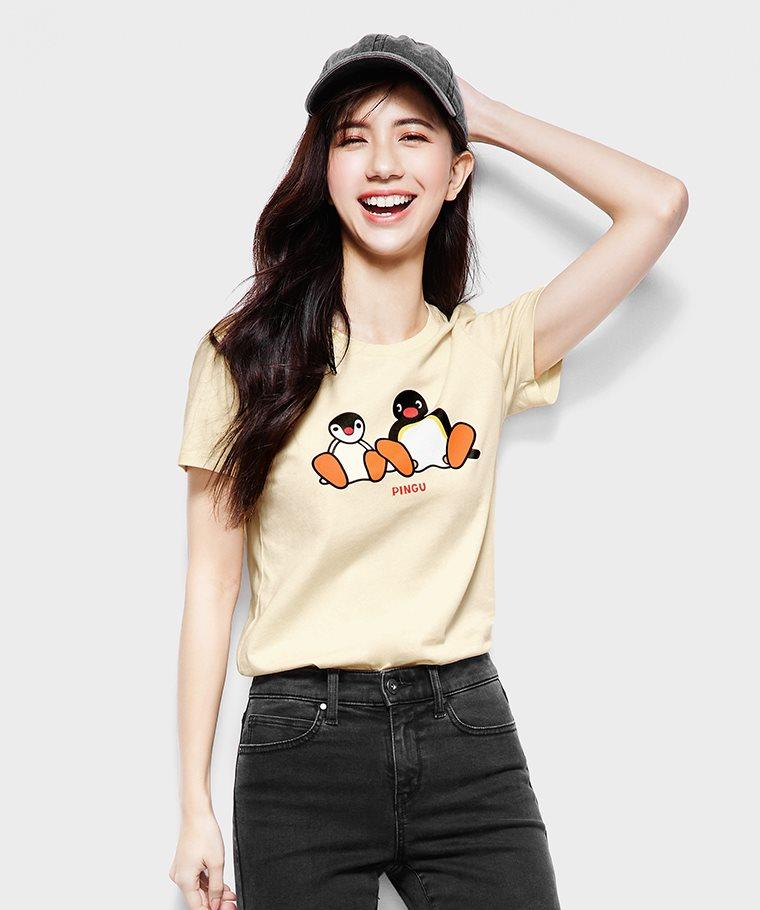 PINGU印花T恤-07-女