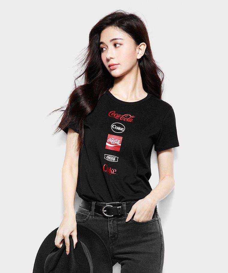 可口可樂印花T恤-08-女