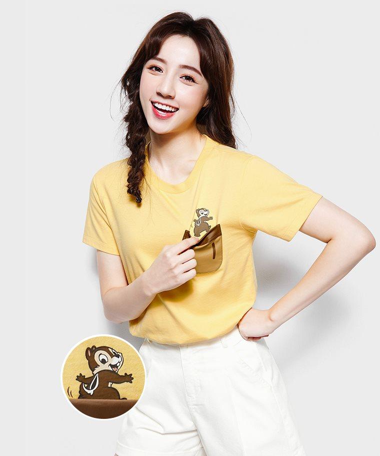 迪士尼系列口袋印花T恤-31-女