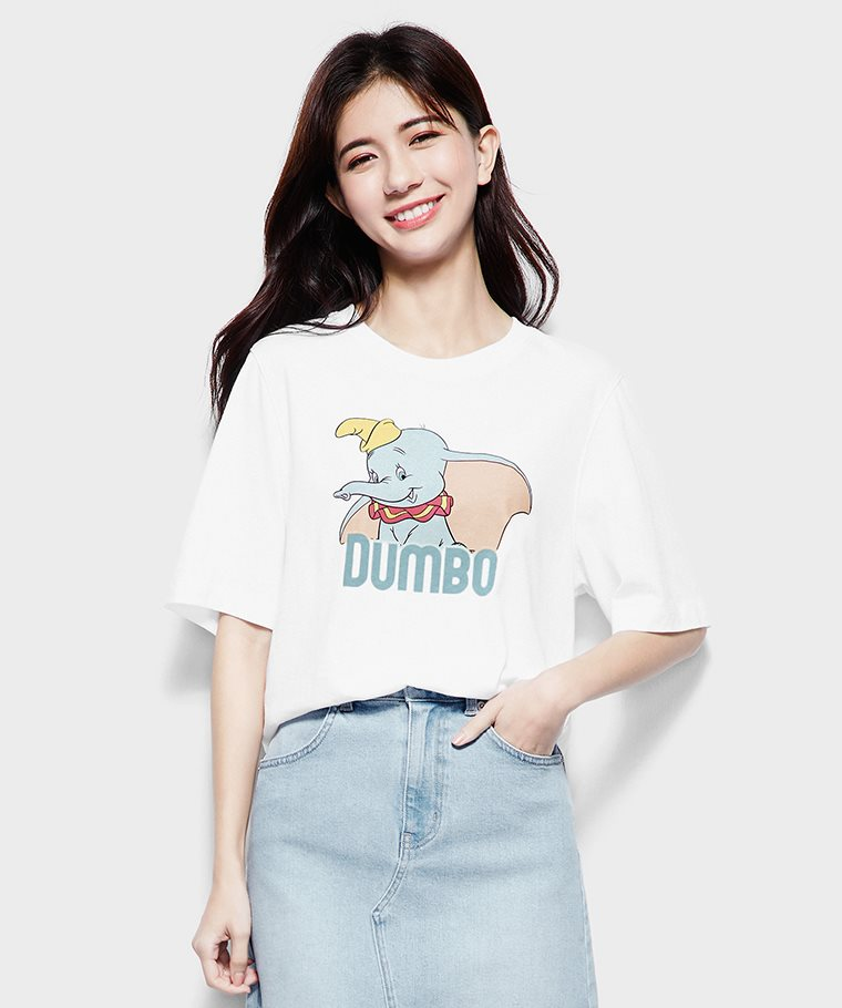 迪士尼系列寬版印花T恤-21-女