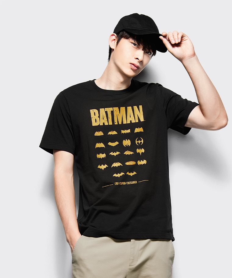 Batman印花T恤-03-男