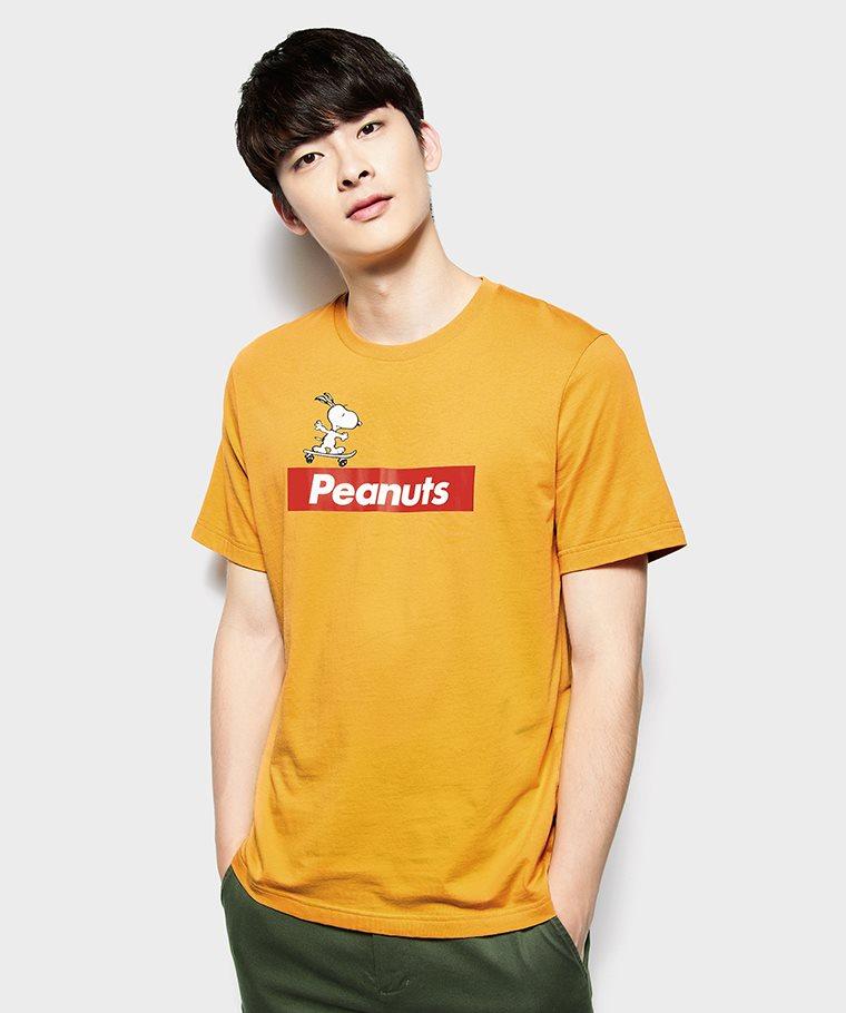 史努比系列印花T恤-02-男