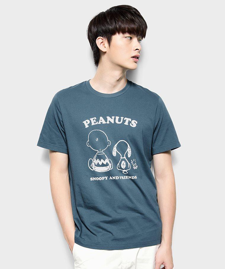 史努比系列印花T恤-05-男