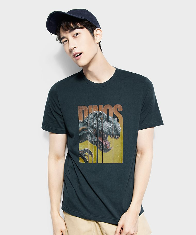 Jurassic World印花T恤-07-男