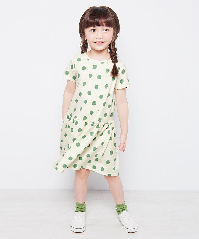 竹節棉印花洋裝-02-童