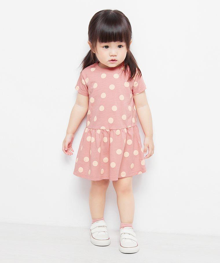 竹節棉印花洋裝-02-Baby