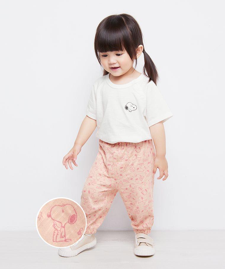 史努比系列竹節棉束口褲-Baby