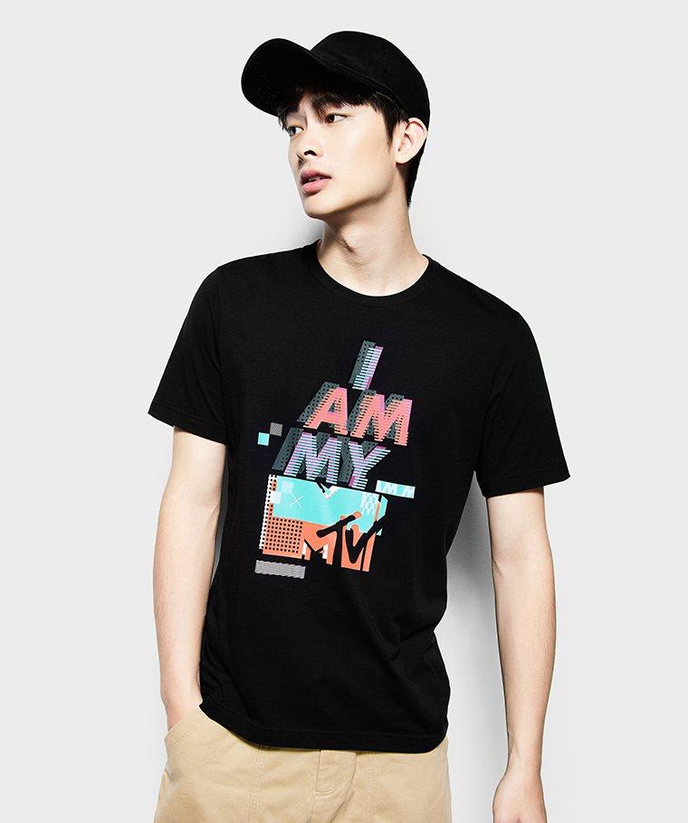 MTV印花T恤-05-男