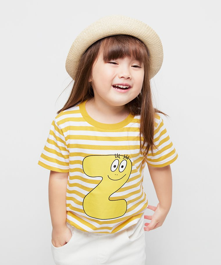 BARBAPAPA條紋印花T恤-11-童