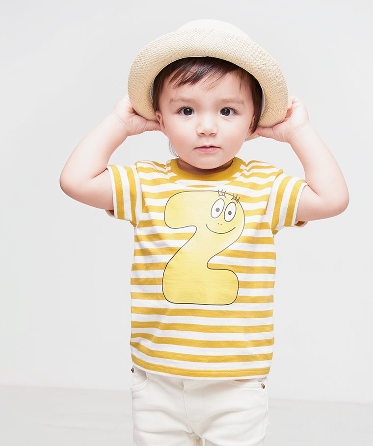 BARBAPAPA條紋印花T恤-11-Baby