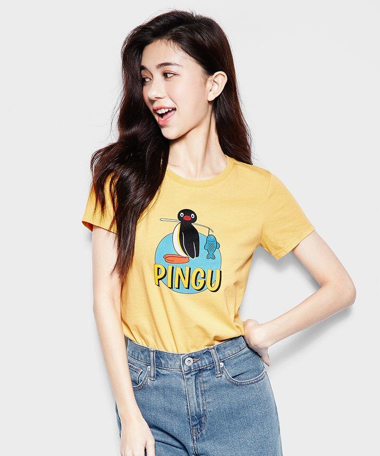 PINGU印花T恤-03-女
