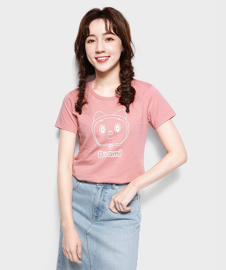 哆啦A夢印花T恤-02-女