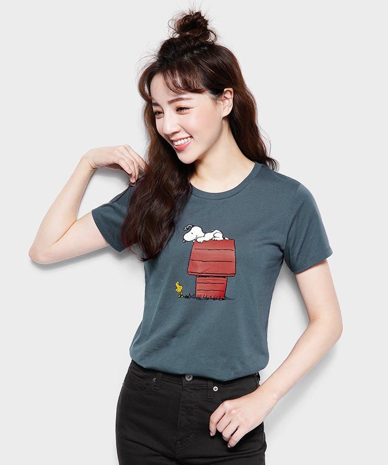 史努比系列印花T恤-24-女