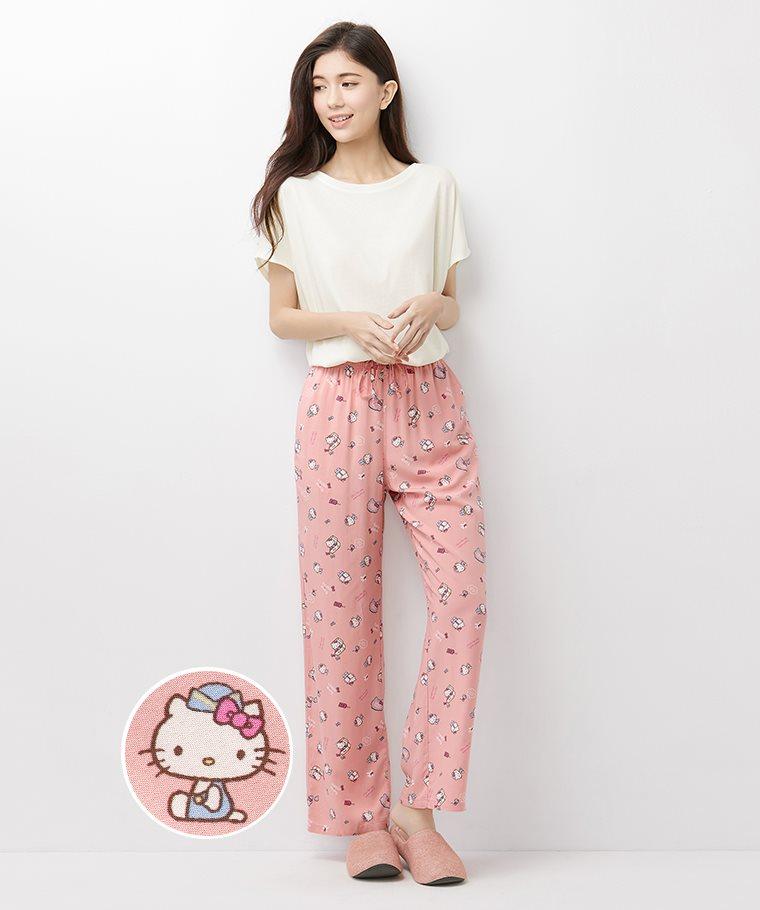 Hello Kitty嫘縈印花長褲-女