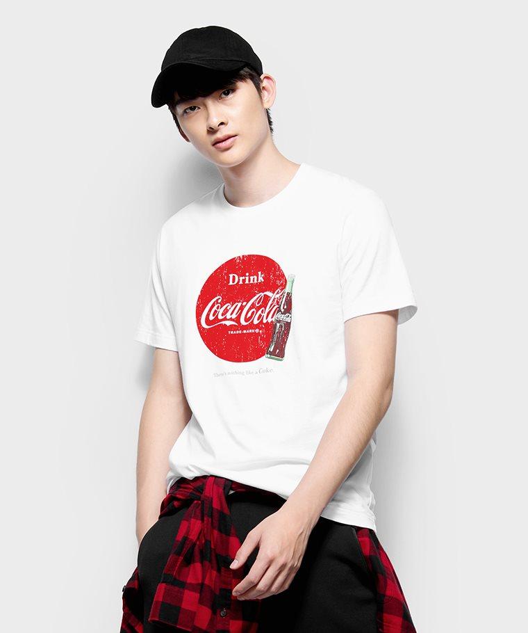 可口可樂印花T恤-10-男