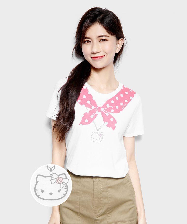 Hello Kitty印花T恤-07-女