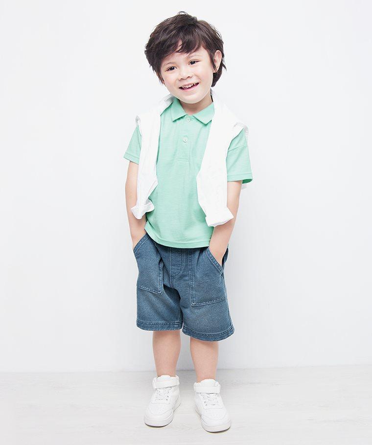 竹節棉polo衫-童