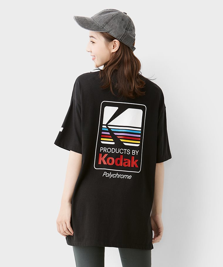 KODAK寬長版印花T恤-04-女