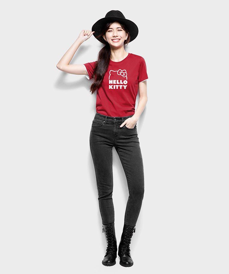 Hello Kitty印花T恤-10-女